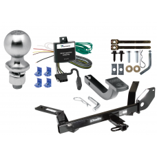 """Trailer Tow Hitch For 00-03 Ford Taurus 04-05 Mercury Sable Complete Package w/ Wiring Draw Bar Kit and 2"""" Ball"""