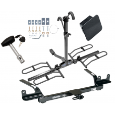 Trailer Tow Hitch For 04-08 Chevy Malibu 4 Dr. Classic LS LT SS Class 2 Platform Style 2 Bike Rack Hitch Lock and Cover