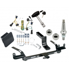 """Trailer Tow Hitch For 04-08 Chevy Malibu 4 Dr. Classic LS LT SS Class 2 Ultimate Package w/ Wiring Draw Bar Kit Interchange 2"""" 1-7/8"""" Ball Lock and Cover"""