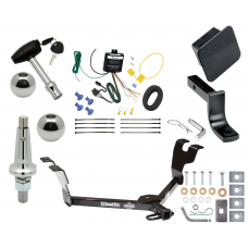 """Trailer Tow Hitch For 05-09 Subaru Legacy 05-07 Outback Sedan Ultimate Package w/ Wiring Draw Bar Kit Interchange 2"""" 1-7/8"""" Ball Lock and Cover"""