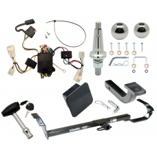 """Trailer Tow Hitch For 02-06 Toyota Camry 4 Dr. Sedan Ultimate Package w/ Wiring Draw Bar Kit Interchange 2"""" 1-7/8"""" Ball Lock and Cover"""