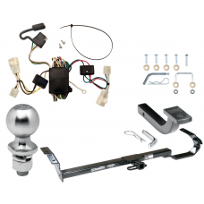"""Trailer Tow Hitch For 02-06 Toyota Camry 4 Dr. Sedan Complete Package w/ Wiring Draw Bar Kit and 2"""" Ball"""