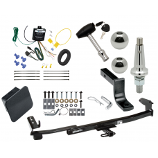 """Trailer Tow Hitch For 05-07 Mercury Montego Ultimate Package w/ Wiring Draw Bar Kit Interchange 2"""" 1-7/8"""" Ball Lock and Cover"""