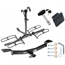 Trailer Tow Hitch For 05-10 KIA Sportage 05-09 Hyundai Tucson Platform Style 2 Bike Rack Hitch Lock and Cover