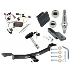 "Trailer Tow Hitch For 05-09 Hyundai Tucson Ultimate Package w/ Wiring Draw Bar Kit Interchange 2"" 1-7/8"" Ball Lock and Cover"