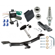 "Trailer Tow Hitch For 05-10 KIA Sportage 4 Cyl Ultimate Package w/ Wiring Draw Bar Kit Interchange 2"" 1-7/8"" Ball Lock and Cover"