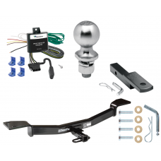 "Trailer Tow Hitch For 05-10 KIA Sportage 4 Cyl Complete Package w/ Wiring Draw Bar Kit and 2"" Ball"