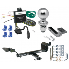 "Trailer Tow Hitch For 97-05  Buick Century 05-09 Allure 98-02 Oldsmobile Intrigue Complete Package w/ Wiring Draw Bar Kit and 2"" Ball"