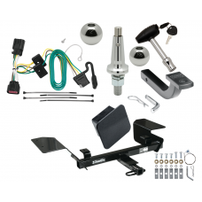 "Trailer Tow Hitch For 06-13 Chevy Impala Ultimate Package w/ Wiring Draw Bar Kit Interchange 2"" 1-7/8"" Ball Lock and Cover"