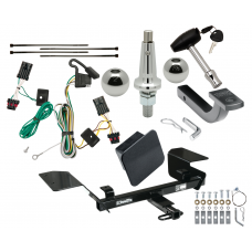 "Trailer Tow Hitch For 00-05 Chevy Impala Ultimate Package w/ Wiring Draw Bar Kit Interchange 2"" 1-7/8"" Ball Lock and Cover"