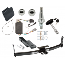 """Trailer Tow Hitch For 05-06 Chevy Equinox 06 Pontiac Torrent Ultimate Package w/ Wiring Draw Bar Kit Interchange 2"""" 1-7/8"""" Ball Lock and Cover"""