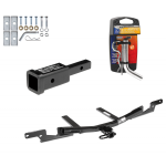 """Trailer Tow Hitch For 07-12 Toyota Camry Sedan Lexus ES350 w/ 2"""" Adapter and Pin/Clip"""