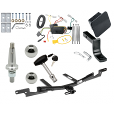 """Trailer Tow Hitch For 07-09 Toyota Camry 4 Dr. Sedan Except Hybrid Ultimate Package w/ Wiring Draw Bar Kit Interchange 2"""" 1-7/8"""" Ball Lock and Cover"""