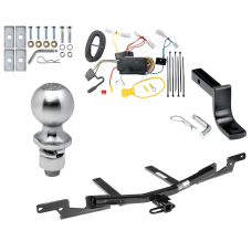 "Trailer Tow Hitch For 07-09 Toyota Camry 4 Dr. Sedan Except Hybrid Complete Package w/ Wiring Draw Bar Kit and 2"" Ball"