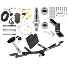 """Trailer Tow Hitch For 07-11 Toyota Camry Sedan Ultimate Package w/ Wiring Draw Bar Kit Interchange 2"""" 1-7/8"""" Ball Lock and Cover"""