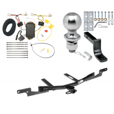 """Trailer Tow Hitch For 07-11 Toyota Camry Sedan Complete Package w/ Wiring Draw Bar Kit and 2"""" Ball"""