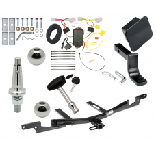 "Trailer Tow Hitch For 07-12 Lexus ES350 Ultimate Package w/ Wiring Draw Bar Kit Interchange 2"" 1-7/8"" Ball Lock and Cover"