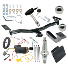 """Trailer Tow Hitch For 07-12 Mazda CX-7 Ultimate Package w/ Wiring Draw Bar Kit Interchange 2"""" 1-7/8"""" Ball Lock and Cover"""