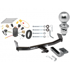 "Trailer Tow Hitch For 07-10 Jeep Compass 07 Patriot Complete Package w/ Wiring Draw Bar Kit and 2"" Ball"
