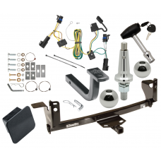 "Trailer Tow Hitch For 05-09 Pontiac G6 Ultimate Package w/ Wiring Draw Bar Kit Interchange 2"" 1-7/8"" Ball Lock and Cover"