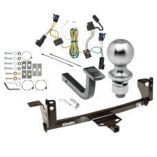 "Trailer Tow Hitch For 05-09 Pontiac G6 Complete Package w/ Wiring Draw Bar Kit and 2"" Ball"