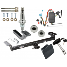"Trailer Tow Hitch For 07-09 Acura RDX Ultimate Package w/ Wiring Draw Bar Kit Interchange 2"" 1-7/8"" Ball Lock and Cover"