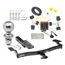 "Trailer Tow Hitch For 07-10 Ford Edge Lincoln MKX Complete Package w/ Wiring Draw Bar Kit and 2"" Ball"