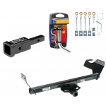 "Trailer Tow Hitch For 07-10 Chrysler Sebring Except Convertible 08-10 Dodge Avenger w/ 2"" Adapter and Pin/Clip"