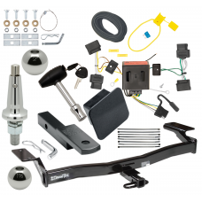 """Trailer Tow Hitch For 07-10 Chrysler Sebring Except Convertible Ultimate Package w/ Wiring Draw Bar Kit Interchange 2"""" 1-7/8"""" Ball Lock and Cover"""