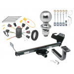"Trailer Tow Hitch For 07-10 Chrysler Sebring Except Convertible Complete Package w/ Wiring Draw Bar Kit and 2"" Ball"