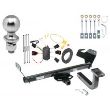 "Trailer Tow Hitch For 08-10 Dodge Avenger Complete Package w/ Wiring Draw Bar Kit and 2"" Ball"