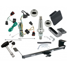 """Trailer Tow Hitch For 09-12 Volkswagen Routan Ultimate Package w/ Wiring Draw Bar Kit Interchange 2"""" 1-7/8"""" Ball Lock and Cover"""
