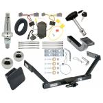 """Trailer Tow Hitch For 07-16 Volvo S80 Sedan Ultimate Package w/ Wiring Draw Bar Kit Interchange 2"""" 1-7/8"""" Ball Lock and Cover"""