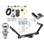 """Trailer Tow Hitch For 07-16 Volvo S80 Sedan Complete Package w/ Wiring Draw Bar Kit and 2"""" Ball"""