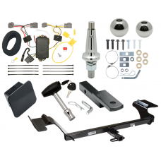 "Trailer Tow Hitch For 09-12 Lincoln MKS Ultimate Package w/ Wiring Draw Bar Kit Interchange 2"" 1-7/8"" Ball Lock and Cover"