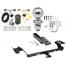 "Trailer Tow Hitch For 09-12 Lincoln MKS Complete Package w/ Wiring Draw Bar Kit and 2"" Ball"