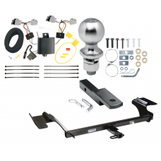 "Trailer Tow Hitch For 13-16 Lincoln MKS Complete Package w/ Wiring Draw Bar Kit and 2"" Ball"