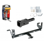 """Trailer Tow Hitch For 08-12 Chevy Malibu LTZ 07-09 Saturn Aura w/ 2"""" Adapter and Pin/Clip"""