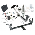 """Trailer Tow Hitch For 07-09 Saturn Aura Ultimate Package w/ Wiring Draw Bar Kit Interchange 2"""" 1-7/8"""" Ball Lock and Cover"""