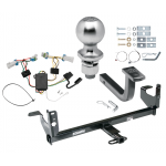 """Trailer Tow Hitch For 07-09 Saturn Aura Complete Package w/ Wiring Draw Bar Kit and 2"""" Ball"""