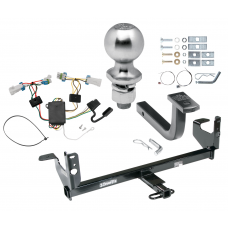 "Trailer Tow Hitch For 07-09 Saturn Aura Complete Package w/ Wiring Draw Bar Kit and 2"" Ball"