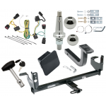 """Trailer Tow Hitch For 08-12 Chevy Malibu Except LTZ Ultimate Package w/ Wiring Draw Bar Kit Interchange 2"""" 1-7/8"""" Ball Lock and Cover"""