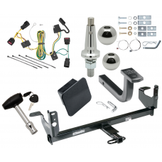 "Trailer Tow Hitch For 08-12 Chevy Malibu Except LTZ Ultimate Package w/ Wiring Draw Bar Kit Interchange 2"" 1-7/8"" Ball Lock and Cover"