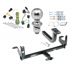 "Trailer Tow Hitch For 08-12 Chevy Malibu Except LTZ Complete Package w/ Wiring Draw Bar Kit and 2"" Ball"