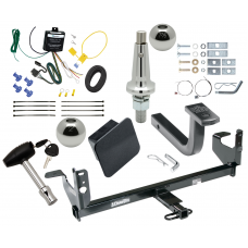 """Trailer Tow Hitch For 08-12 Chevy Malibu LTZ Ultimate Package w/ Wiring Draw Bar Kit Interchange 2"""" 1-7/8"""" Ball Lock and Cover"""