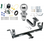 """Trailer Tow Hitch For 08-12 Chevy Malibu LTZ Complete Package w/ Wiring Draw Bar Kit and 2"""" Ball"""