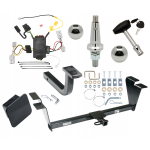 """Trailer Tow Hitch For 09-11 Hyundai Genesis 4 Dr Sedan Ultimate Package w/ Wiring Draw Bar Kit Interchange 2"""" 1-7/8"""" Ball Lock and Cover"""