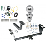 """Trailer Tow Hitch For 12-14 Hyundai Genesis 4 Dr Sedan Complete Package w/ Wiring Draw Bar Kit and 2"""" Ball"""