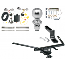 "Trailer Tow Hitch For 10-19 Ford Taurus 4 Dr Sedan Complete Package w/ Wiring Draw Bar Kit and 2"" Ball"