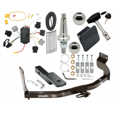"""Trailer Tow Hitch For 05-07 Ford Escape 05-06 Mazda Tribute Ultimate Package w/ Wiring Draw Bar Kit Interchange 2"""" 1-7/8"""" Ball Lock and Cover"""